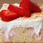 pastel de queso con fresas